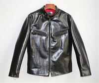 Супер качество натуральной лошадь кожаная куртка Тонкий Vintage Подлинная Конская кожа Rider Jacket