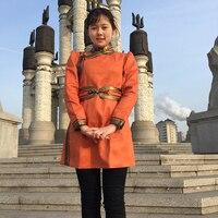 New Mongolian clothing life dress imitation velvet skin lady Mongolia Robe Girl traditional mongolian national female gown