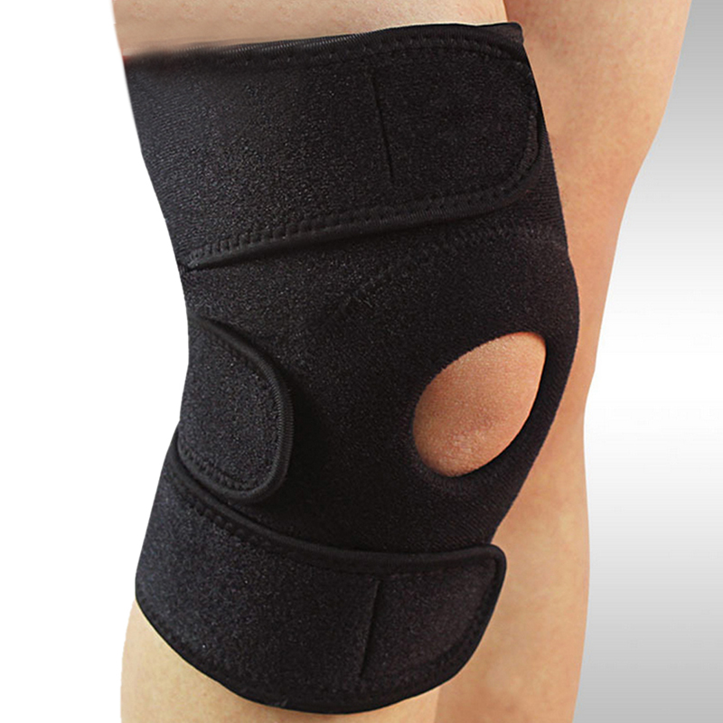 Soft Comfortable Adjustable Knee Patella Support Brace Sleeve Wrap Cap Stabilizer Sports Black Inner Padded Design