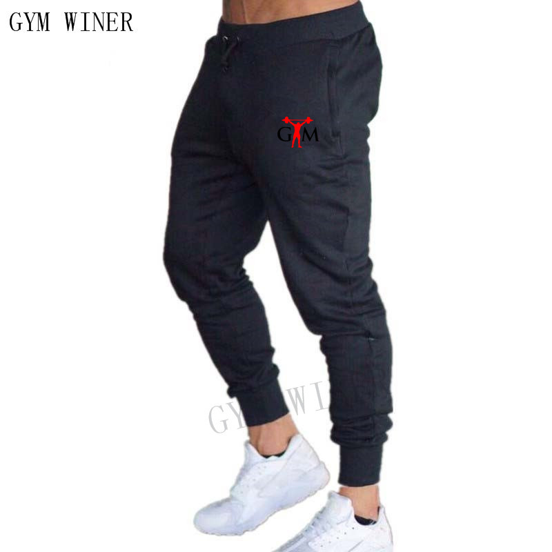 2018 New Brand Male Trousers Casual Pants Sweatpants Jogger Grey Casual Elastic Cotton GYMS Fitness Workout Pants Men Joggers
