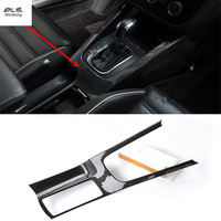 1pc Car stickers carbon fiber ABS material gear panel and Drinking glass decoration cover for 2009 2017 Volkswagen VW Scirocco