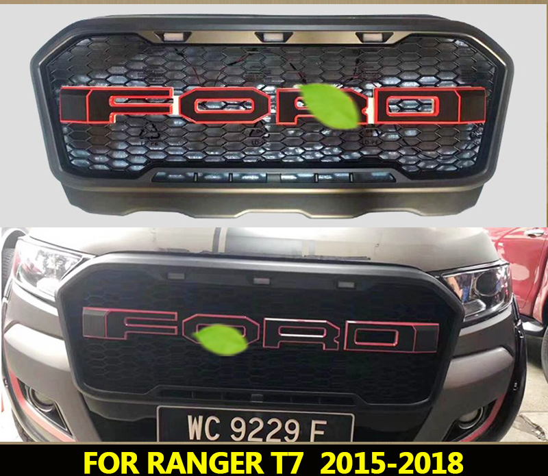 Fits For 2016 2019 Ford Explorer Front Lower Bumper Grill Matte Black Grille