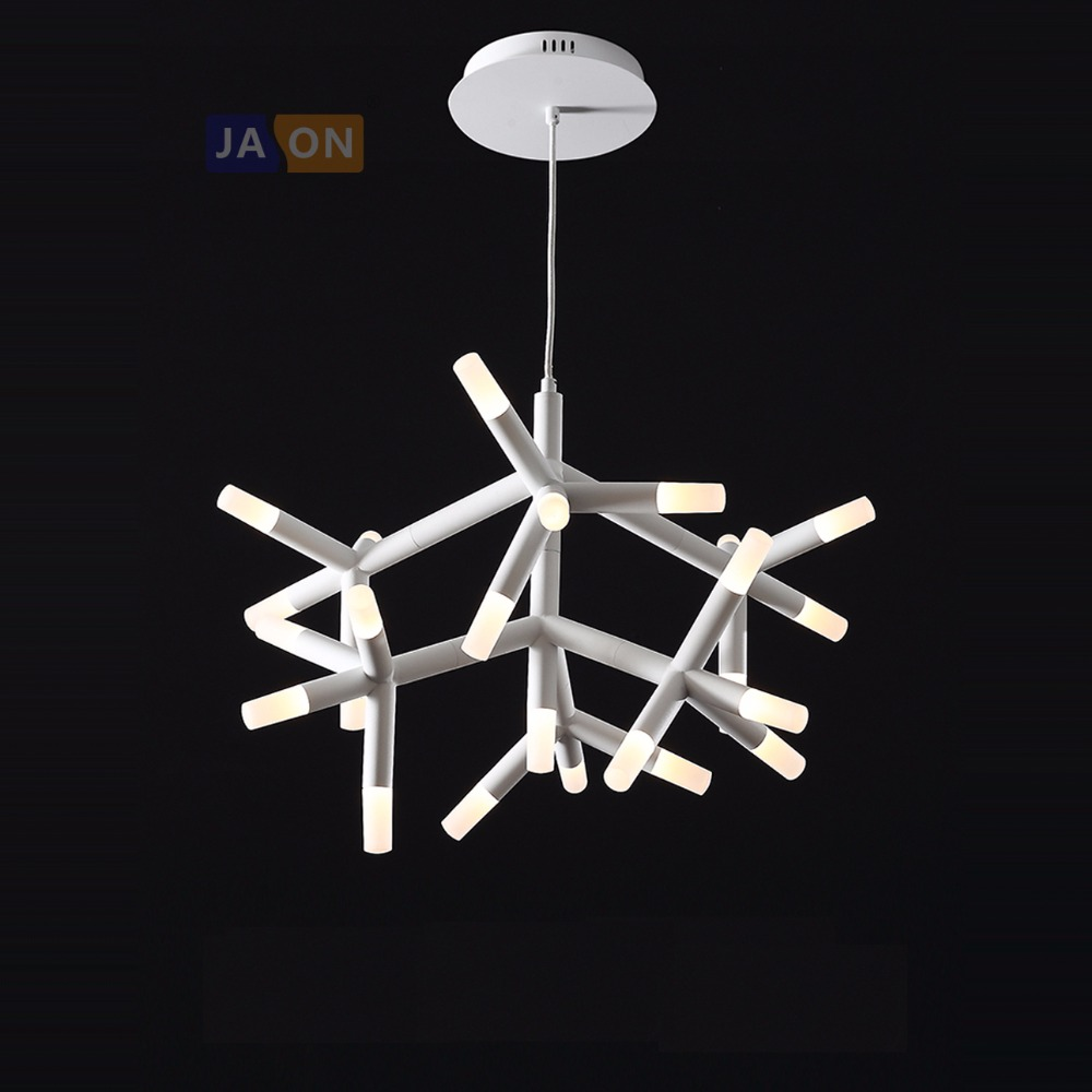 LED Postmodern Black White Iron Acrylic Tree Chandelier Lighting Suspension Luminaire Lampen Lustre For Foyer Dinning RoomLED Postmodern Black White Iron Acrylic Tree Chandelier Lighting Suspension Luminaire Lampen Lustre For Foyer Dinning Room