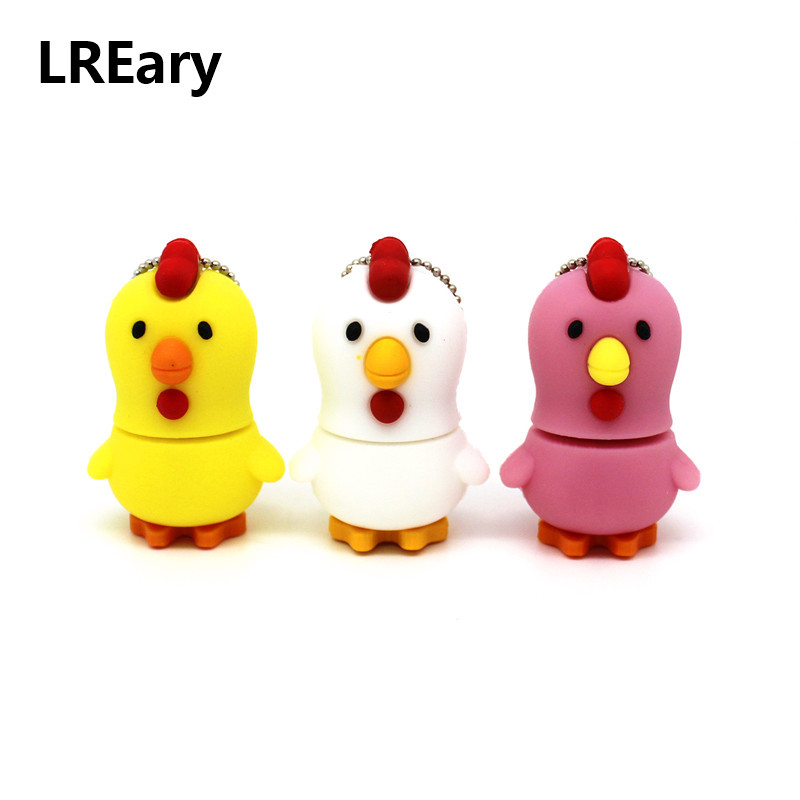 Cartoon Lovely White/yellow Chicken Usb Flash Drive Pen Drive Memory Stick PenDrive Thumb Disk Real Capacity 4GB 8GB 16GB 32GB