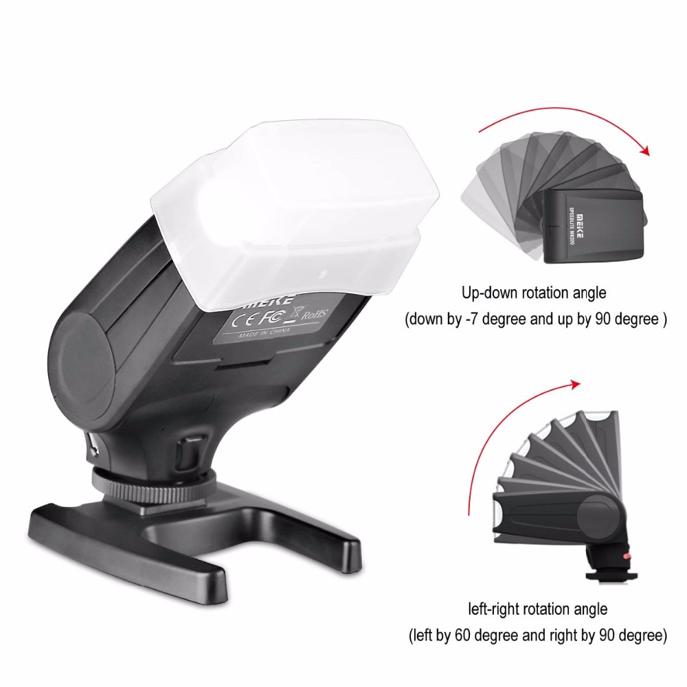 Meike MK320S TTL Speedlite Flash pour Sony Mirrorless Caméra A7 A7R A7S A7II A77II A6000 NEX-6 A58 A99 RX1 RX1R RX10 RX100II + CADEAU