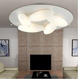 Creative design eggs LED ceiling light living room bedroom advanced hotel lighting fixture droplight 5 heads White G9 light ZA