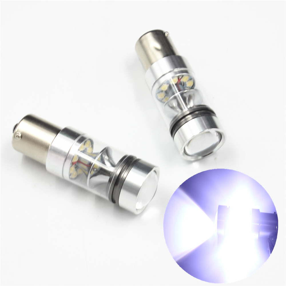 High Quality P21W 1156 BA15S 20 SMD 2828 CREE Super Brightness Brake Parking Reverse Lights Fog Lamps Turn Signal Bulb DC12V~24V