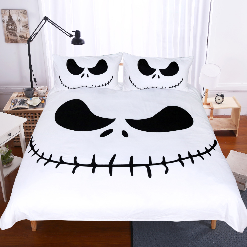 BeddingOutlet Black and White Bedding Set Nightmare Before Christmas ...