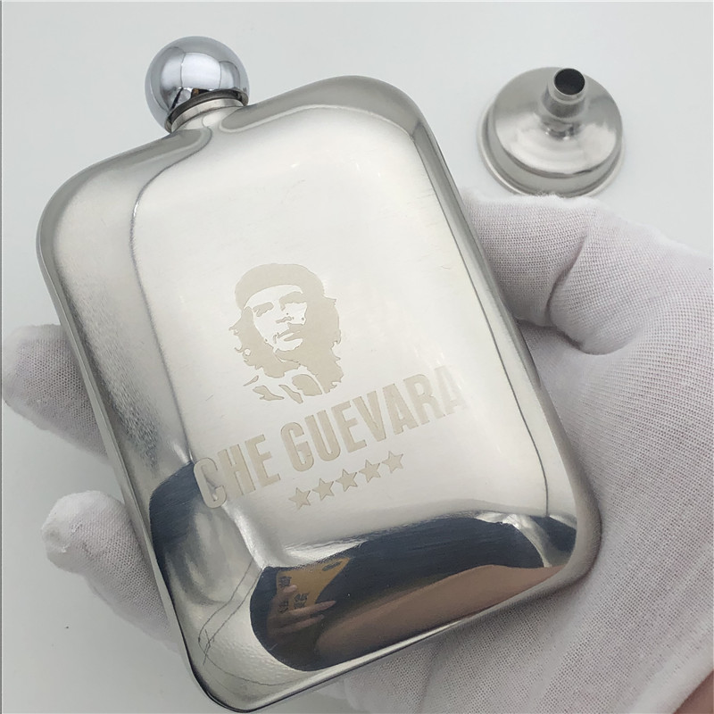 Che Guevara 6 Ounce Hip Flask 304 Stainless Steel 170ml Flask Alcohol Flagon Bottle for Whiskey Vodka Che Guevara