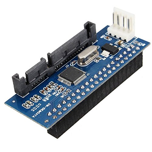 40Pin 3.5 IDE to 7+15 22 pin SATA Male Adapter Internal Hard Drive Card Adapter цена и фото