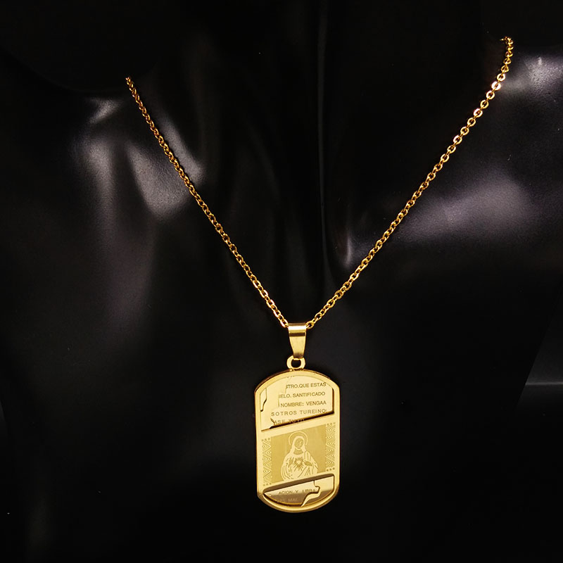 Hip Hop Jesus Collares de acero inoxidable Hombres Big Vintage Cross HipHop Collar colgante de cadena Gold Jesus Piece Jewelry 16012630B