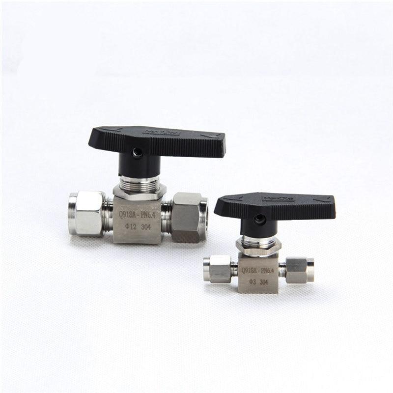 Stainless Steel 304 PARKER Mini Ball Valve straight in panel Ball valve