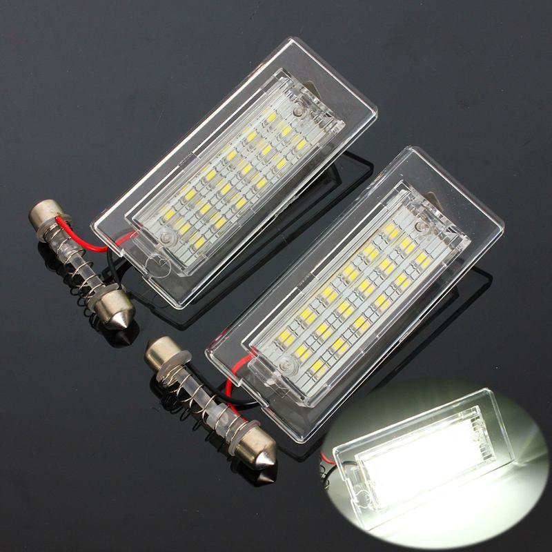2шт 12V номерного знака свет для BMW Х5 Е53 Х3 Е83 2003-2010 18 светодиодные лампы автомобиля номерного знака лампы стайлинг автомобиля Источник света