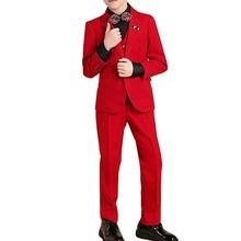 Новые костюмы для мальчиков на свадьбу, однобортный Красный смокинг, праздничная одежда для общения