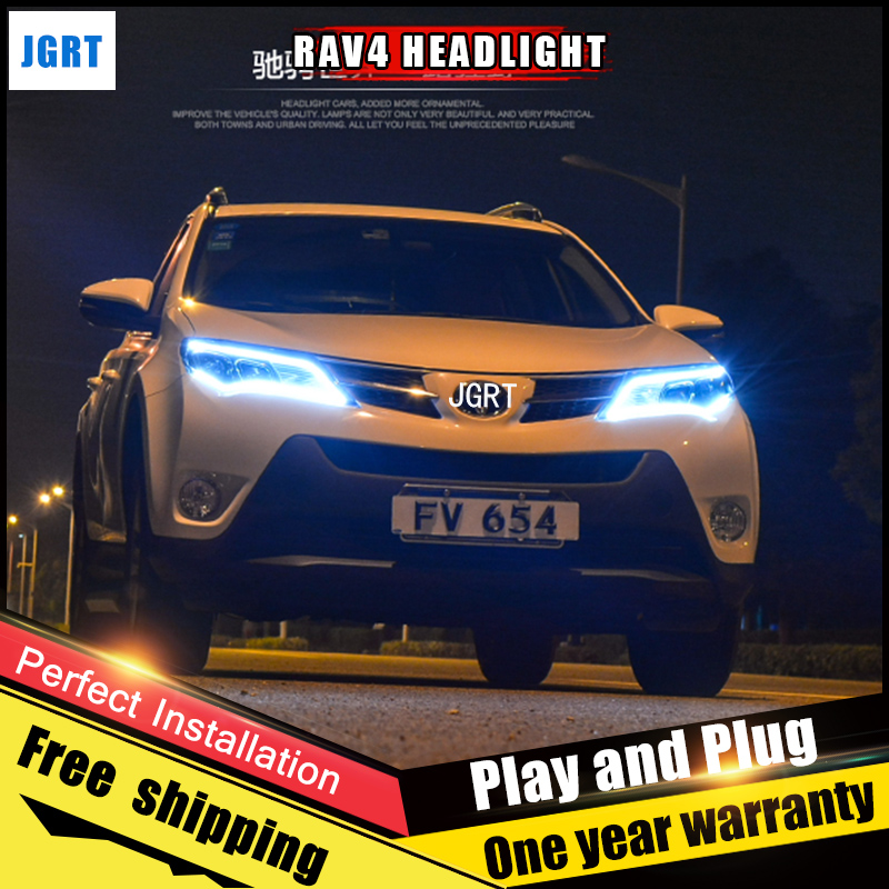 Car Style LED headlights for Toyota RAV4 22003-2009 for RAV4 head lamp LED Lens Double Beam H7 HID Xenon bi xenon lens for volkswagen polo mk5 vento cross polo led head lamp headlights 2010 2014 year r8 style sn