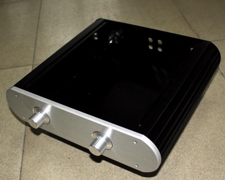 WA28 Full aluminum amplifier chassis / Tube amp / Class A amplifier / AMP Enclosure / case / DIY box (335*82*312mm) цена