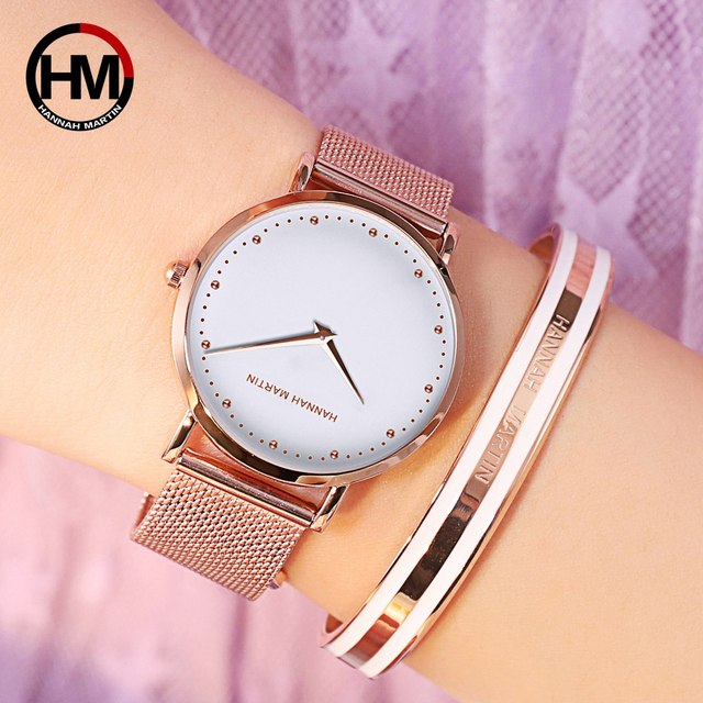 Women Watches Top Brand Luxury Japan Quartz Movement Stainless Steel Sliver White Dial Waterproof Wristwatches relogio feminino 3