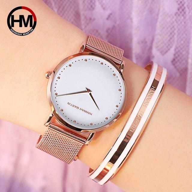 Women Watches Top Brand Luxury Japan Quartz Movement Stainless Steel Sliver White Dial Waterproof Wristwatches relogio feminino 3