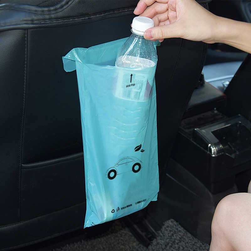 50pcs Biodegradabile Auto Adesivo Sacchetto di Immondizia Auto Sedile Posteriore Sacchetto di Immagazzinaggio Appeso Spazzatura Bidone della Spazzatura Cestino Interni Auto Accessorio Di Natale