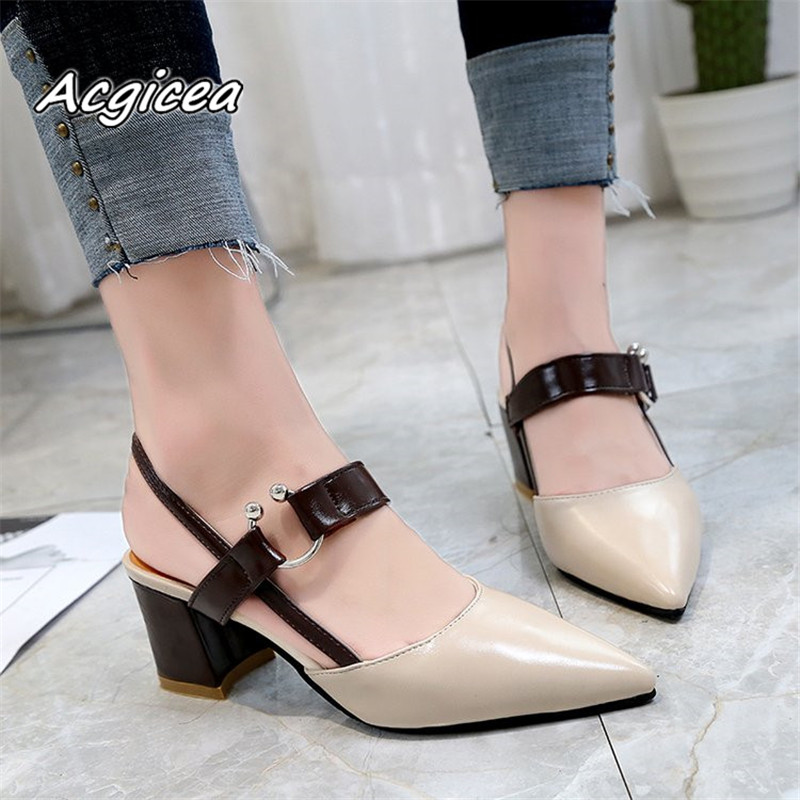 Chaussures Femme 2020 Spring Pumps Sexy Work High-heeled Shoes Pointed OL Office Elegant Women's Wedding Shoes Dames Schoenen