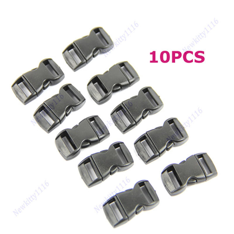 цена на 10PCS/lot Buckles For Umbrella Paracord Bracelets Black Side Release Buckles