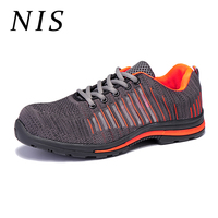 NIS Lightweight Bulletproof Work Safety Shoes Men Breathable Anti puncture With Indestructible Midsole Atrego Shoes Sport Boots