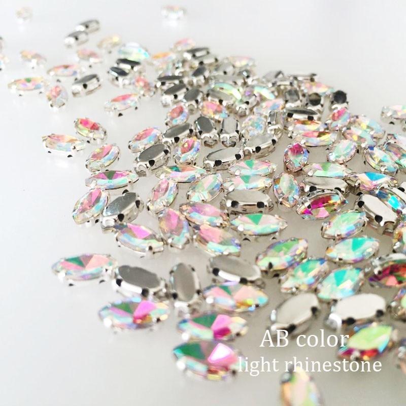 4x8мм 50pcs / lot Opal Horse Eye Кристалл стеклон - Өнер, қолөнер және тігін - фото 4