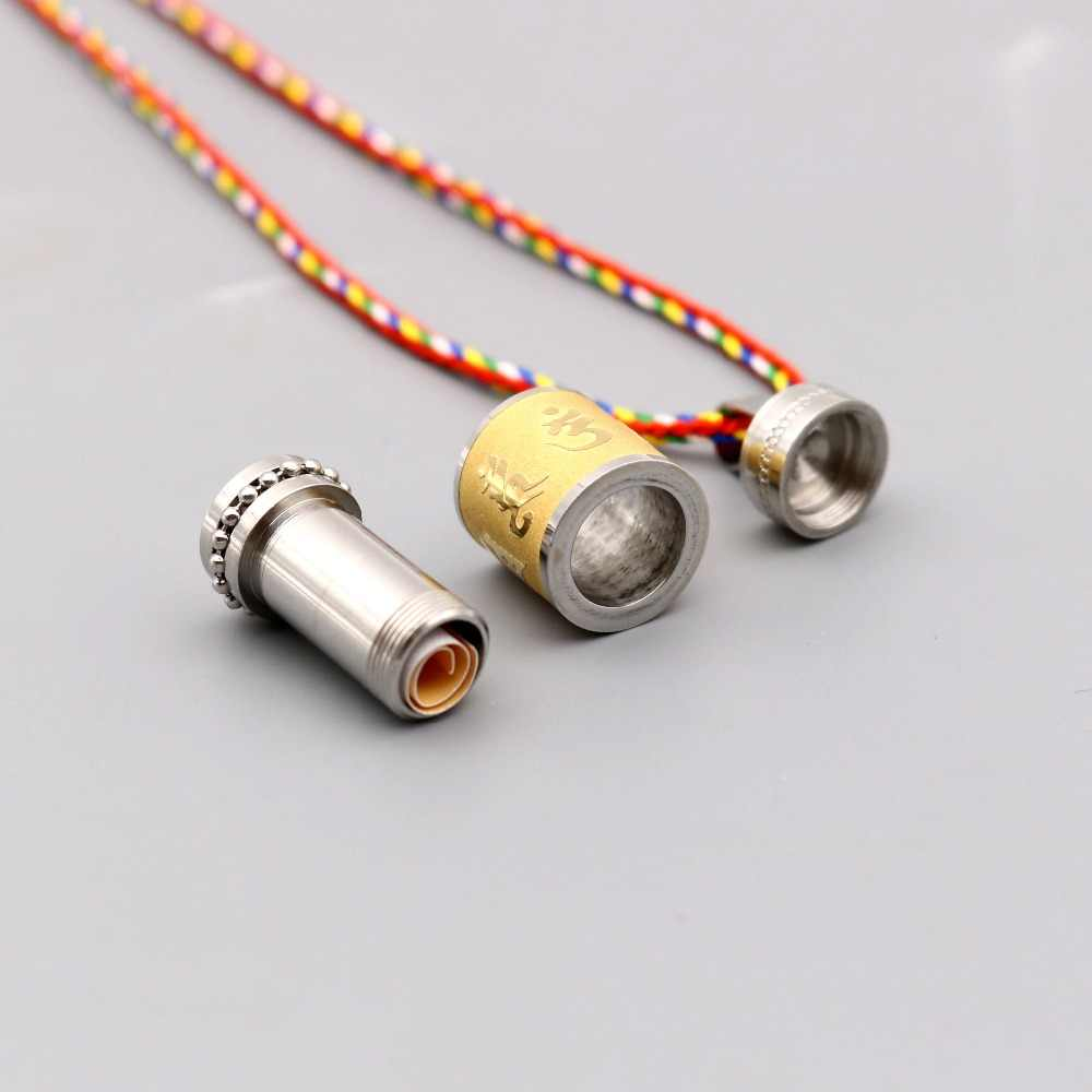 Prayer Wheel Pendant Necklace Stainless Steel Om Mani Padme Hum Spinner Couple Mala Meditation Peaceful Love jewelry