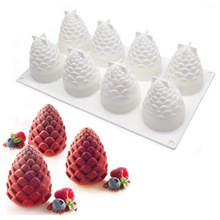 Weihnachten 8 Hohlraum Tannenzapfen Mousse Silikon Backform DIY Backen Dessert Form Kuchen Modell