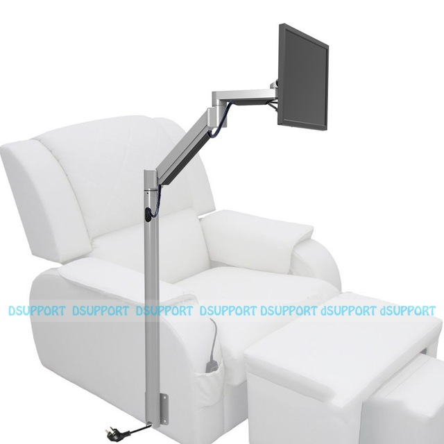 Customized Floor Mount Monitor Holder Floor Stand Sofa Bedside Fixed TV Mount For Foot Massage Chair Entertainment Room