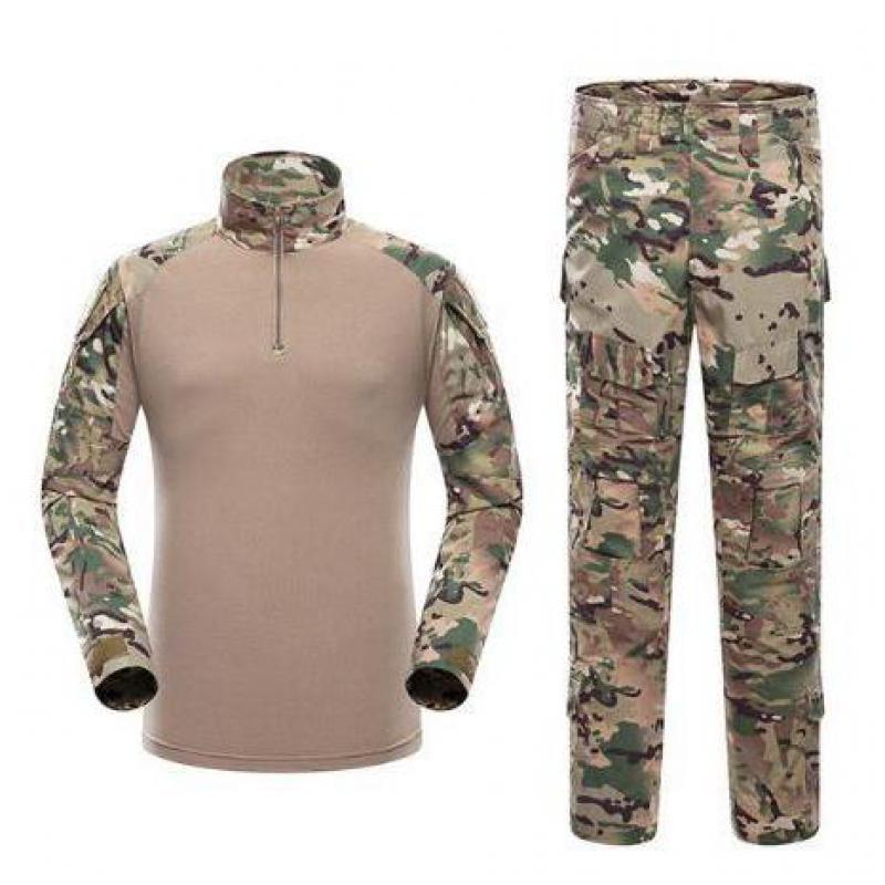 Tactique militaire Combat uniforme Multicam chemise + pantalon coude US armée militaire uniforme Camouflage costume chasse vêtements