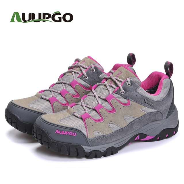 AUUPGO Man Casual Shoes Men Outdoor Shoes Best Quality Waterproof Lovers Suede Leather Shoes A749