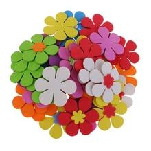 40 шт смешанные наклейки из пены в форме цветов, орнамент для детского сада, настенные наклейки для дома, Детские Поделки для скрапбукинга