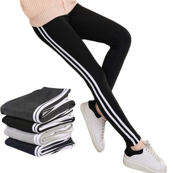 2019 Women Lady Activewear Black Legging Spring Summer light grey Pant Autumn Mid Waist Leggins running pants image