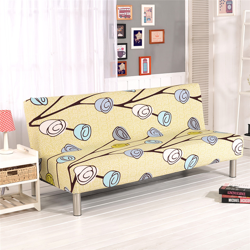 All-inclusive Sofa Cover Without Armrest Couch Cover Stretch Furniture Slipcovers Living Room Sofa Bed Cover Protection