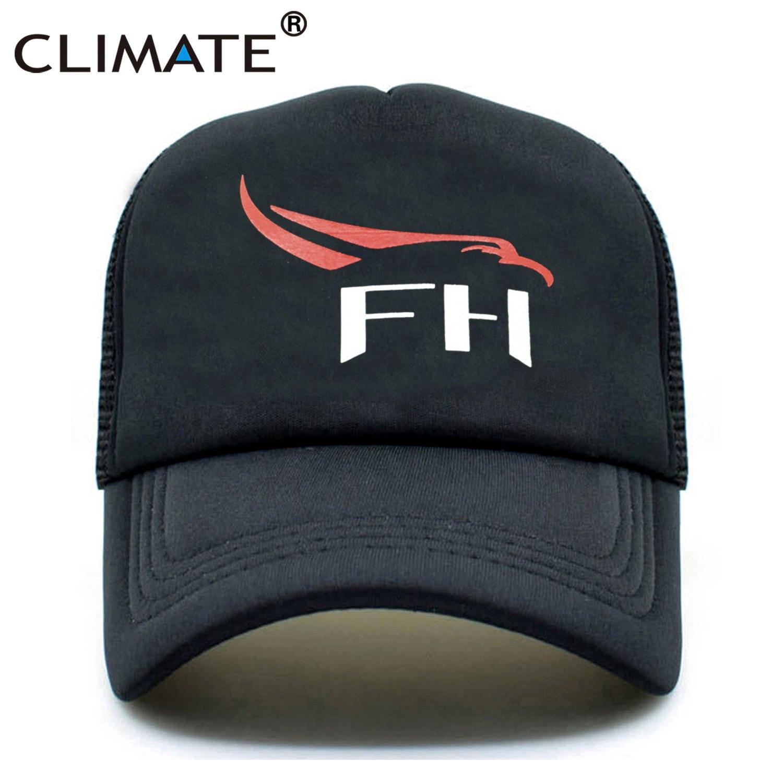 CLIMATE Spacex New Trucker Caps Space X Falcon Heavy FH Rocket Elon Musk Summer Baseball Mesh Net Trucker Cap Hat For Men Women