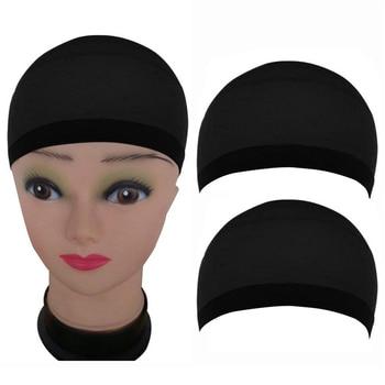 2 PCS Black Wig Caps Stretchy Material Hair Mesh Wig Cap Hair Nets Making Wig Stretchable Elastic Hair Net Cheap  Hairnets chifres malevola png