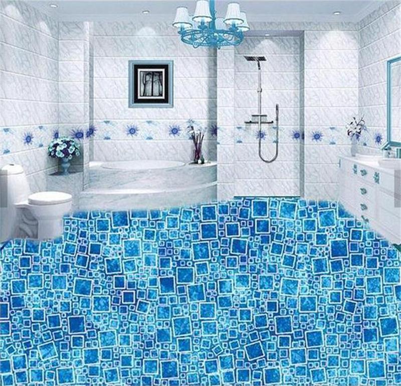 3d pavimenti in pvc 3d personalizzato pavimentazione bagno carta da parati di cristallo squisita modello 3d