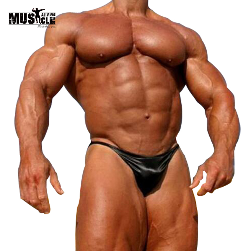 Mens Bodybuilding Posing Trunks  Competition Posing Wear Sexy Beach SwimmingWear Boys Swimsuits Hot Underwear Contoured Pouch