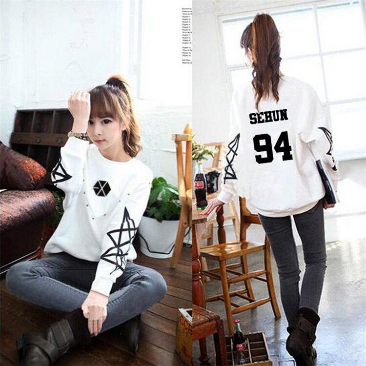 Толстовка kpop exo одежда exo осень с длинным рукавом белая мужская и Корейская женская куртка одежда пара рубашка с капюшоном верхняя одежда