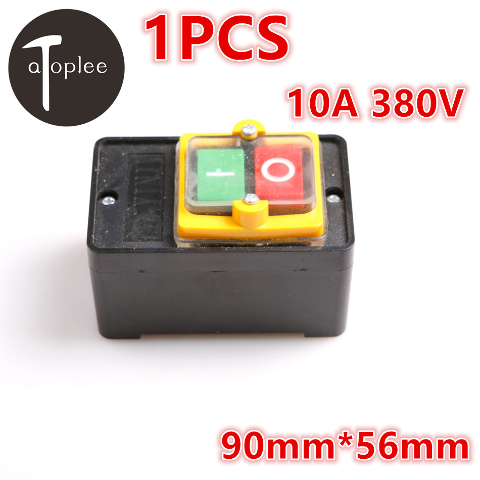 1PCS 380V 10A ON/OFF Water Proof Push Button Switch Electrical Equipment KAO-5M Cleaning Machine Push Button Switch 10a 250v 380v on off waterproof push button switch for cutting machine drill switch plastic motor best price