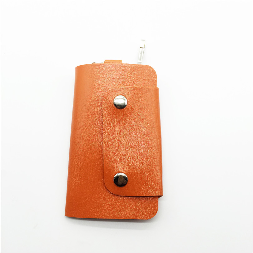 Want Go Unisex Women Men Fashion Pocket Key Wallets Bags Portable Solid Pu Leather Key Rings Holders Cufflinks Keyboard Bags