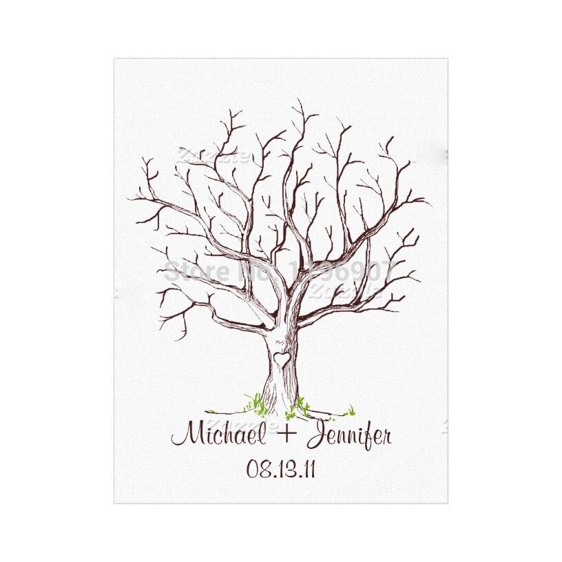 Eccezionale 40x60 cm decorazioni di nozze albero di impronte digitali  PE01