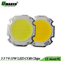UMAKED Haute Puissance COB Puces LED Lumière 3 W 5 W 7 W 9 W 15 W Dia28/20mm Balle Intégré SMD diodes Led Ampoule spotlight Plafond Lampe DIY