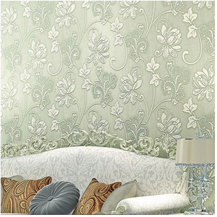 Luxury Europe Home Decor Thicken Wallpaper 3d Durable Non Woven Wallpapers Rural Floral Wall Paper