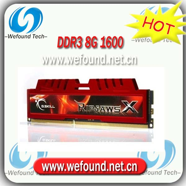 Hot sell! Brand new for G.SKILL DDR3 1600 8G ram  for desktop computer overclocking F3-12800CL10S-8GBXL