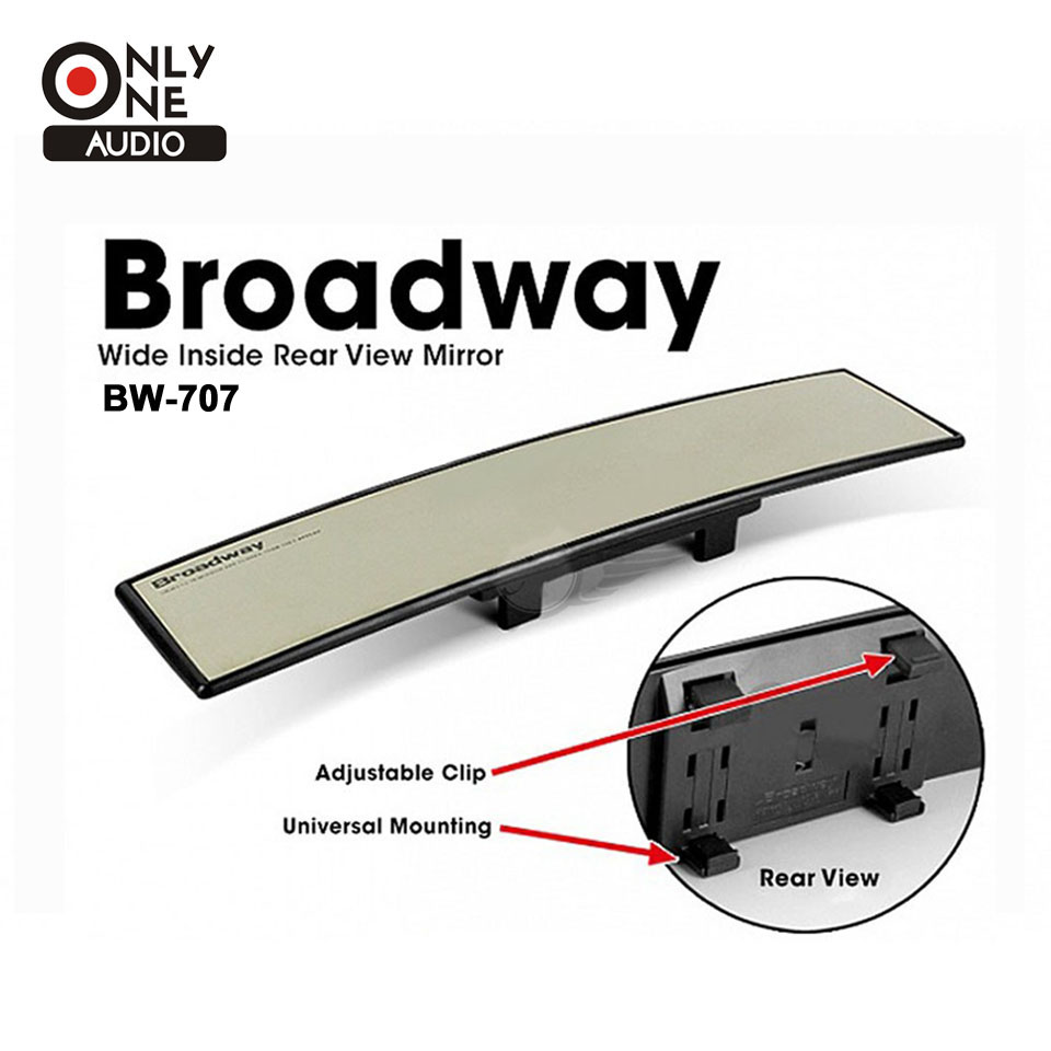 ONLY ONE AUDIO Untra Thin Universal 300mm Wide Convex Auto Interior Mirrors Clip On Car Vehicle Truck Inside Rear View Mirror car clip on rear view mirror convex mirror driving safety universal wide angle rear view mirror auto car interior mirrors