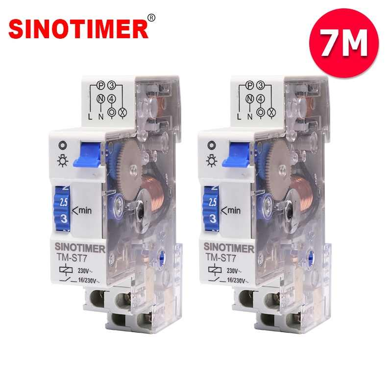 7 Minutes Interval Factory Price 18mm Single Module DIN Rail Staircase Timer Switch for Staircase Lighting Controls