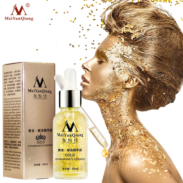 Anti Aging Skin Care Pure 24K Gold Essence Day Cream Anti Wrinkle Face Care Collagen Whitening Moisturizing Hyaluronic Acid