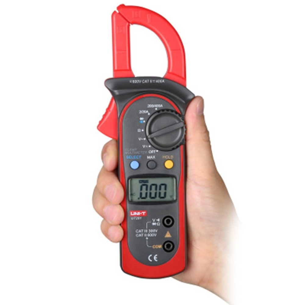 Digital Clamp Meter UT201 AC/DC Current Voltage Meter Auto range Voltmeter Ameter Capacitance Resistance Tester mini voltmeter tester digital voltage test battery dc 0 30v red blue green auto car